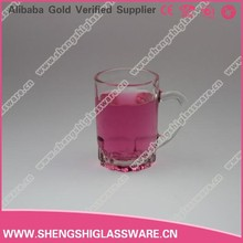 MINI shot 75ml glass cup with thick base with handle