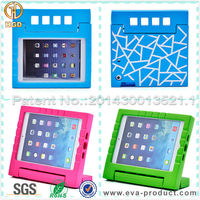 Colorful EVA Shock Proof Handle Stand Plastic Cases for New iPad