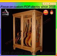POP new custom wood guitar display case stand