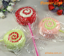 promotion lollipop towel cotton towel for gift