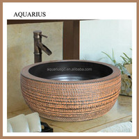 china accepted custom table top simple color wash basin