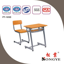 Durable and moden single desk chair , school classroom table chair for students