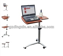Angle & Height Adjustable Rolling Laptop Desk Cart Over Bed Hospital Table Stand (DX-BJ11)