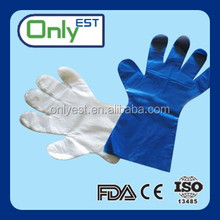 Plastic disposable veterinary pe gloves