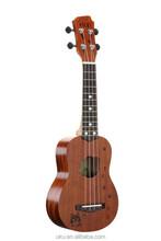 """UKU wholesale 21"""" engraving lovely Soprano wooden ukulele"""