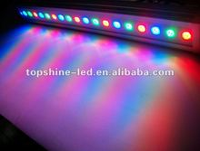 dmx rgb ip65 waterproof 54w led wall washer 600mm for musemus and sports centres
