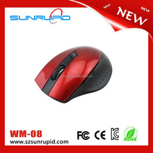 Red Cordless USB Receiver Wireless 2.4G Optical Mouse