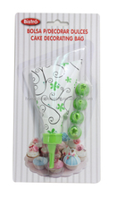 6 Piece Cupcake Decorating Set - Tips & Piping Bags Cake Decorating Piping Bag