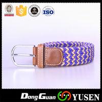 Popular High Quality Two-Tone Woven Stretch Elastic Ladies Fashion Belt