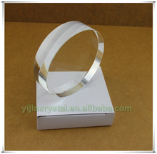 Attractive K9 Crystal Round Paperweight;Clear Cylinder Shaped Crystal Blank Disk;Rounded Crystal Blanks for Color Printing Gifts