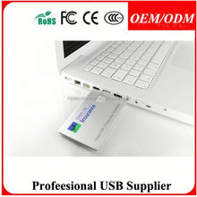 advertising gift flip card usb flash , crystal card usb drive