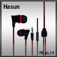 Hot selling braid rope cable earphone with earphone reel cable