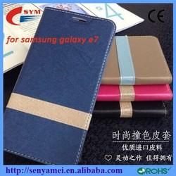 Factory OEM ODM high quality leather flip case for samsung galaxy e7,flip case cover flip for Samsung galaxy e7