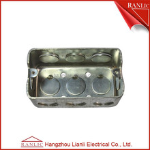 Metal electric outlet box size