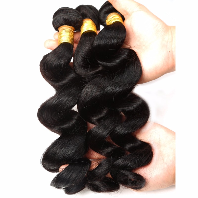 Brazilian loose wave virgin human hair extension