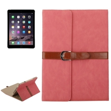 Superior Quality Business Style 3 Folding PU Stand Leather Case for iPad Air 2 with Stand