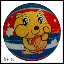 Full printed mini rubber basketball size 1