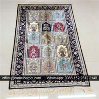 2.5x4ft bedroom bed side handmade central carpet