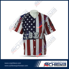 sublimated high quality softball jerseys/uniforms&coed baseball tee shirt
