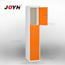 knock down 3 door steel locker/ high quality locker with cyber lock