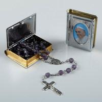 metal religious bible rosary box