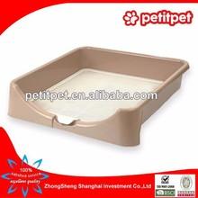 Brown Square Shape Pet Toilet for Cats Plastic Cat Toilet