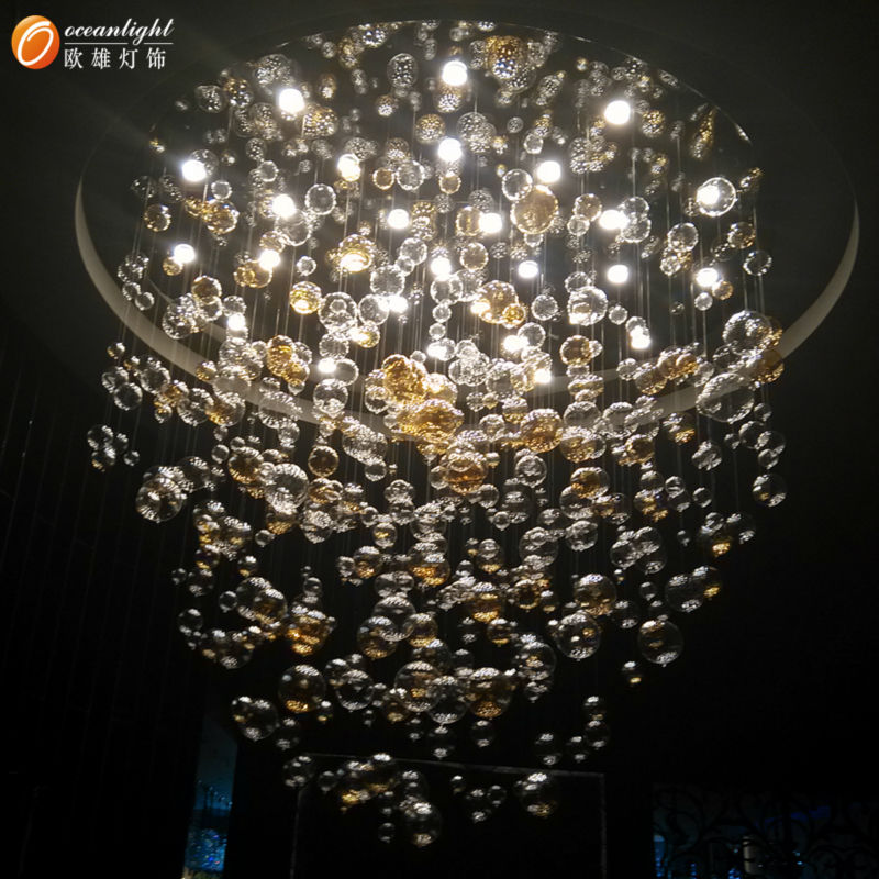 Crystal hanging candle chandeliermodern glass ball pendant lamp glass ball pendant lamp om802 13 2g aloadofball Images