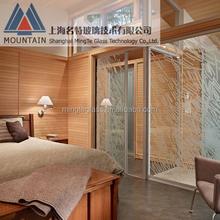 glass door material and exterior position aluminum glass folding door