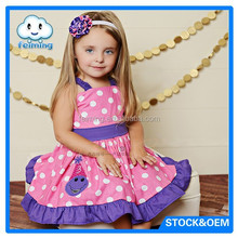 Kids clothing wholesale frock design for cutting
