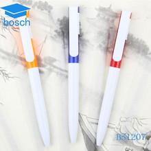 Quality goods for student cheap plastic pen long plastic ballpoint pen