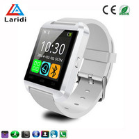 Silicone watch bracelet bluetooth U8 smartwatch passed ce rosh cheap price ios smart watch for health care