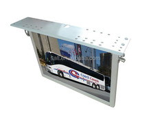 """19inch 17"""" hd media player, roof hanging hd media player for bus usb cf sd card"""