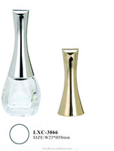 silver and golden UV electroplate cone shape plastic nail polish cap
