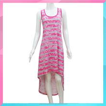 Ladies fashion striped printed dress for woman
