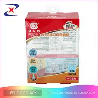 PP PET PVC plastic box for kids products