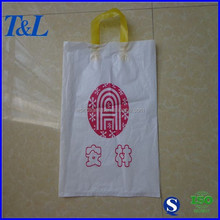 Eco-friendly good quality and best popular for gift packaging white cheap patch handle shopping bag