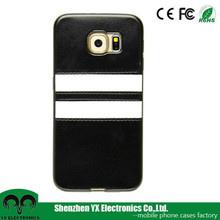China Suppliers back case cover for samsung s6 leather case