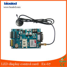 Gprs wireless indoor led moving message display control card