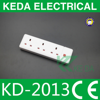 5 way UK type British extension power strip/power socket with 13A plug