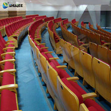 Top Sale Commercial Lecture Hall Chair with Desk, Folding Wooden Church Chairs