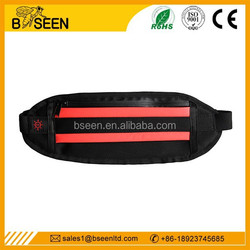 Super Bright led waist bag sport bag for iphone6 USB charging running belt