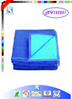 High performance azul costura móveis protecing cobertor em movimento