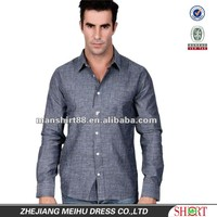 Attractive style Comfortable fabric 100% Cotton men stylish business Sky blue shirt