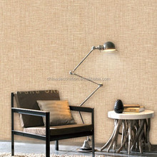 Solid color fabric wallpaper with minimalist design