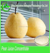 La muestra libre pera jugo en polvo / pera concentrado de jugo forma pera fresca