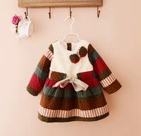 d10127b 2015 latest dress patterns for girls children's clothing girls dress autumn winter dresses