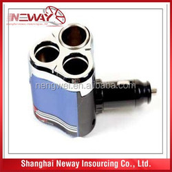 Portable safety 12v electronic car cigarette lighter W /USB charger