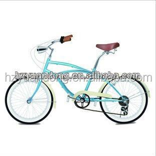 26'' ผู้หญิงครีมแสงสีฟ้าชายหาดcrusier6ความเร็วจักรยานจักรยานไฮบริด