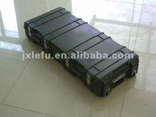 2012 plastic waterproof gun case with wheels