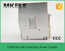 DR-120-12 CE approved single out led din rail switch mode power supply 12v 10a